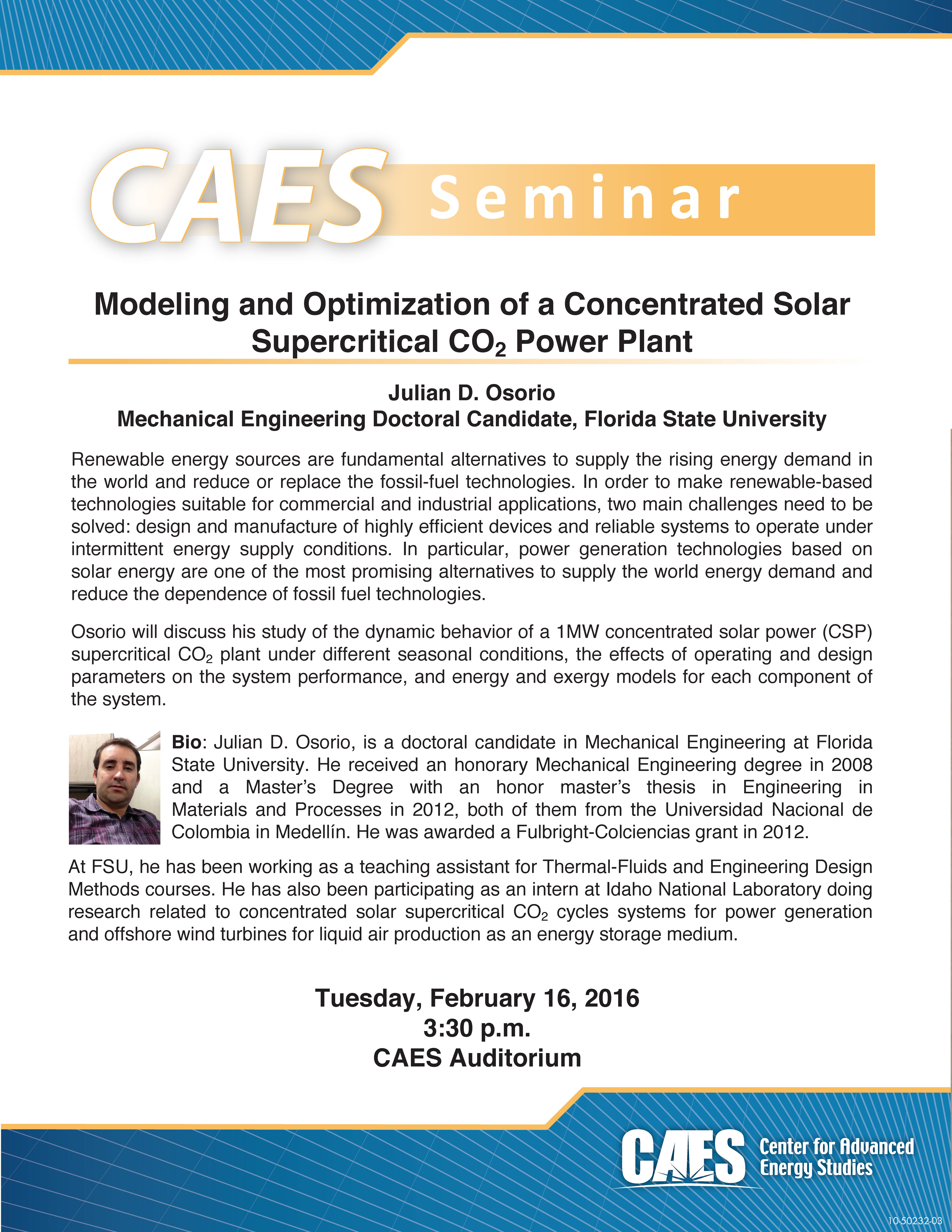Modeling and Optimization of a Concentrated Solar Supercritical