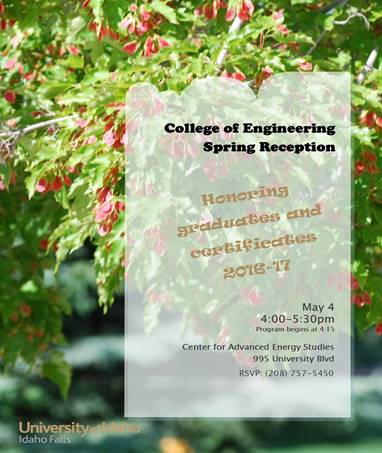 College of Engineering Spring Reception